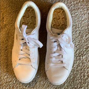 Women's Puma Basket Classic White Sneakers